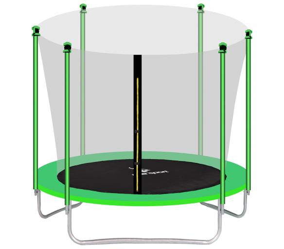 aGa SPORT FIT Trampolina ogrodowa 305cm 10ft z siatką wewnętrzną - Light Green