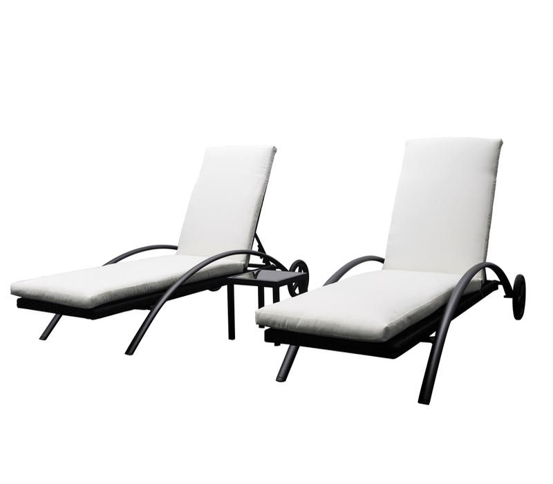 Aga Zahradní sada lehátek LOUNGE + stolek