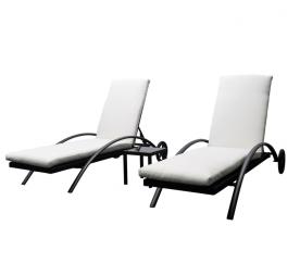 Aga Záhradná súprava lehátok LOUNGE + stolek