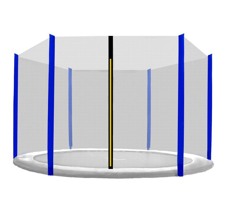 Aga Ochranná síť 400 cm na 6 tyčí Black net / Blue