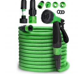 Tillvew Flexibilní zahradní hadice 7,5 m Green