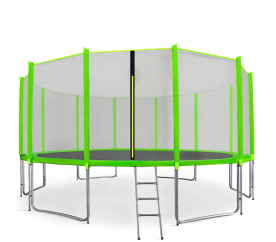 Aga SPORT PRO Trampolína 460 cm Light Green + ochranná síť  + žebřík + kapsa na obuv