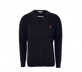 U.S. Polo ASSN. Kardigan V-Neck Black