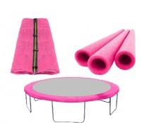 AGA Set FIT Pink Vnitřní ochranná síť 250 cm na 6 tyčí + Kryt pružin + Pěnová ochrana