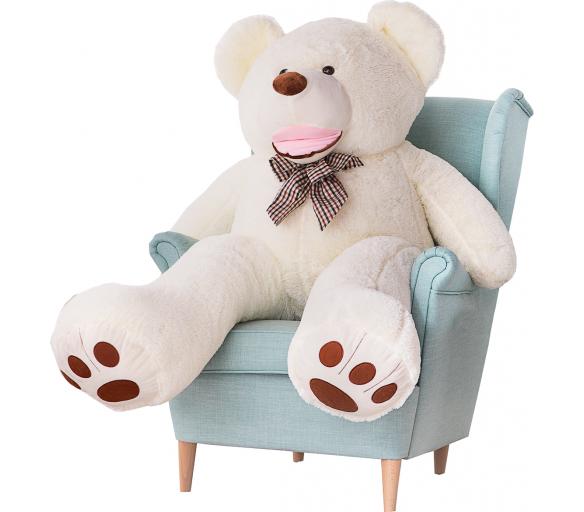 Aga4Kids Plyšový medvěd 160 cm Amigo White