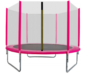 Aga SPORT TOP Trampolin 250 cm Rosa + Sicherheitsnetz