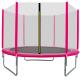 Aga SPORT TOP Trampolína 250 cm Pink + ochranná síť