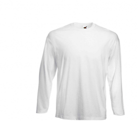 Fruit Of The Loom Tričko VALUEWEIGHT Longsleeve White