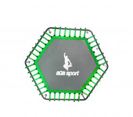 Aga Mata do skakania fitness trampolina 130cm Green