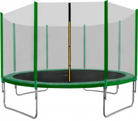 Aga SPORT TOP Trampolína 400 cm Dark Green + ochranná síeť