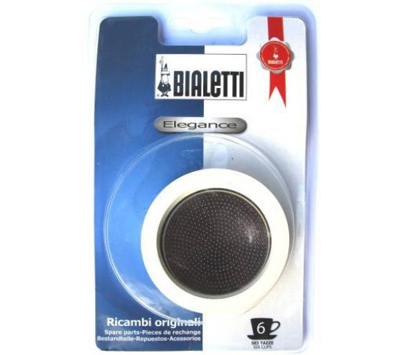 Sada: 3 gumové těsnění + 1 sítko pro nerezové kávovary - Bialetti - Bialetti