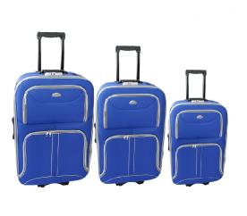 Linder Exclusiv Zestaw walizek COMFORT COLORS MC3063 S,M,L Blue