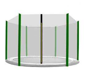 Aga Siatka do trampoliny 180cm 6ft zewnętrzna na 6 słupków Black net / Dark Green