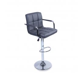 Aga Krzesło barowe z podłokietnikiem BH015 Grey