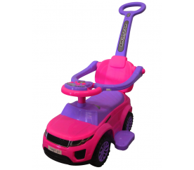 R-Sport Odrážadlo s vodiacou tyčou J4 Pink