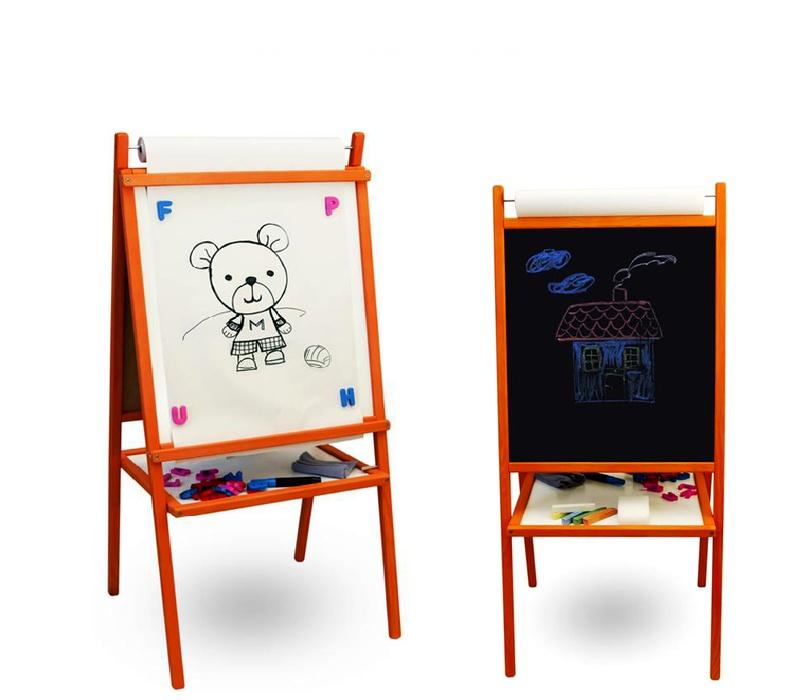 Aga4Kids Detská tabuľa TEDDY MOP 4v1