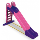 Aga4Kids Skluzavka s madlem 243 cm Růžovo-fialová