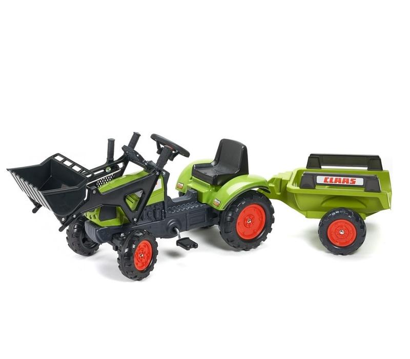 Falk Šlapací traktor CLAAS ARION 410 2040M s vlečkou a nakladačem