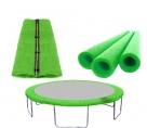 AGA Set FIT Light Green Vnútorná ochranná sieť 305 cm na 6 tyčí + Kryt pružín + Penová ochrana