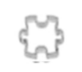 Vykrajovátko puzzle 20mm Smolík - Smolík