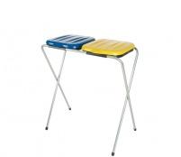 Aga Stojan na odpadkové pytle 2x120 l Žlutý, Modrý