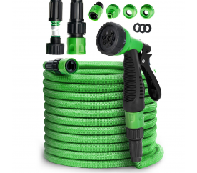 Tillvew Flexibilní zahradní hadice 30 m Green