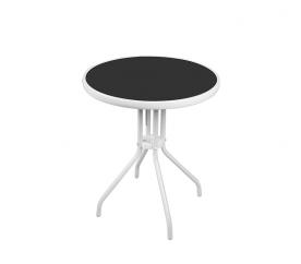 Linder Exclusiv Szklany stół ogrodowy BISTRO MC330850WB 70x60 cm