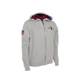 U.S. Polo ASSN. Bluza z kapturem Grey Melange
