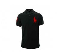 Ralph Lauren Dětské Polo tričko Black Big Pony Red