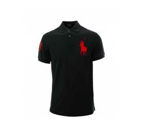 Ralph Lauren Dziecięca koszulka Polo Black Big Pony Red