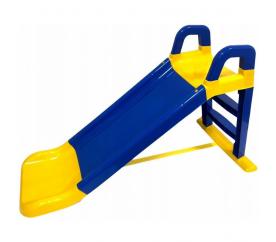 Aga4Kids Zjeżdżalnia z uchwytem 140 cm Niebiesko-żółta