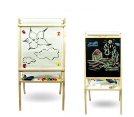 Aga4Kids Detská tabuľa 4v1 MPP NATUR 95 cm