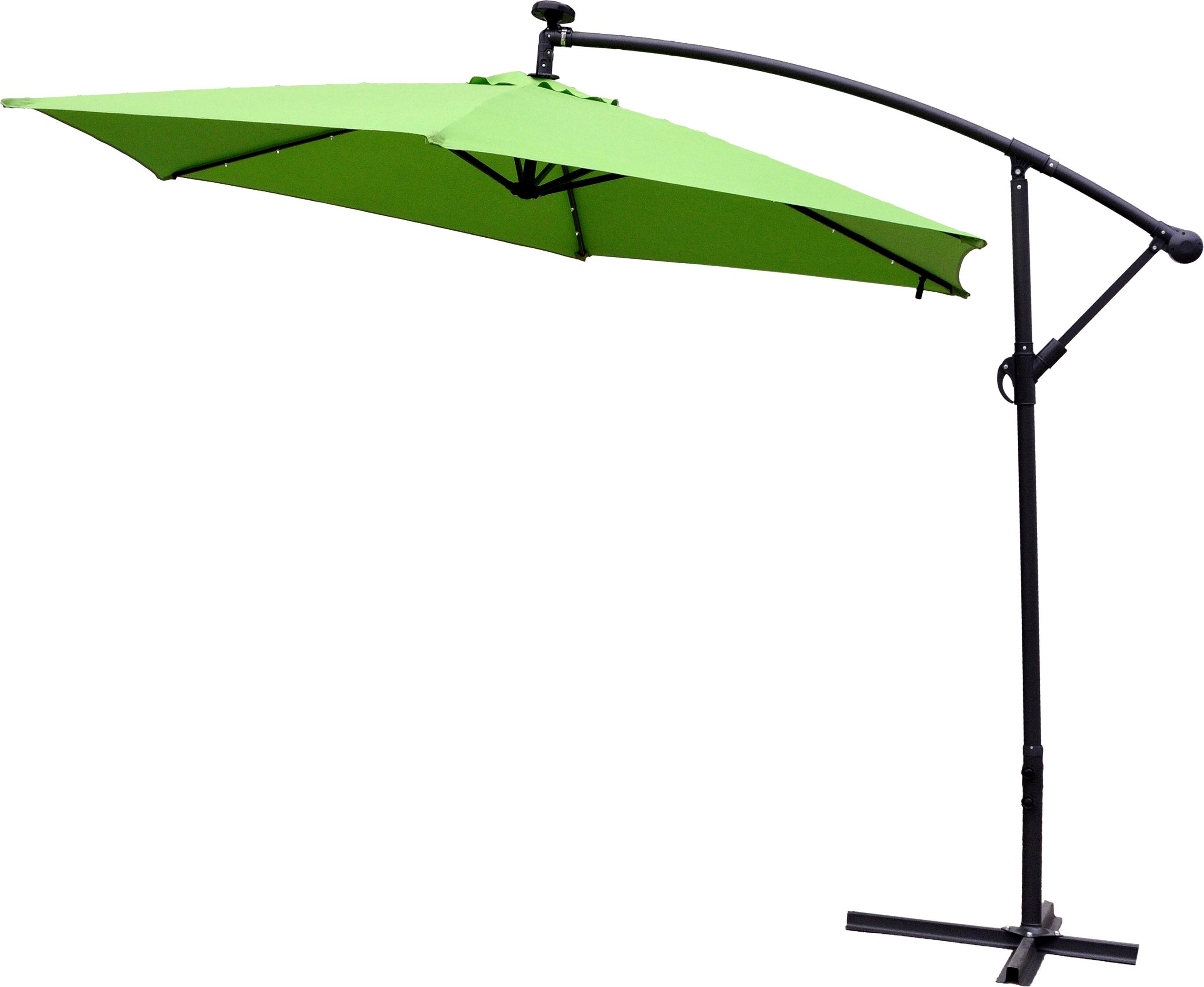 Aga Zahradní slunečník konzolový EXCLUSIV LED 300 cm Apple Green