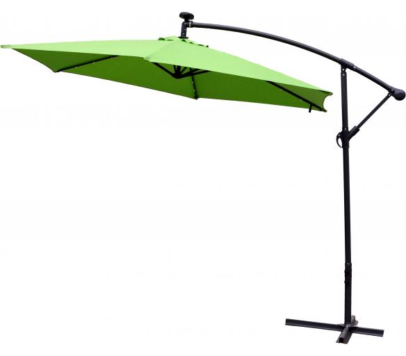 Aga Záhradný slnečník konzolový EXCLUSIV LED 300 cm Apple Green