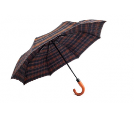 Deštník Pierre Cardin s rukojetí hnědomodrý skládací