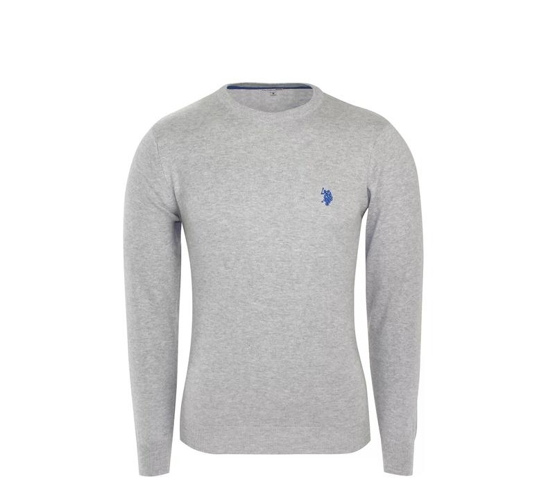 U.S. Polo ASSN. Férfi pulóver ROUND-NECK Grey