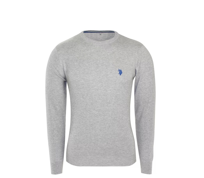 U.S. Polo ASSN. Svetr ROUND-NECK Grey