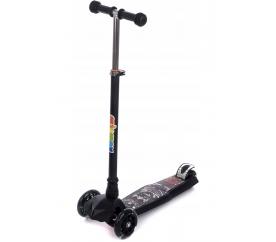 Aga4Kids Gyerek háromkerekű roller fekete