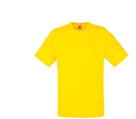 Fruit Of The Loom VALUEWEIGHT T Yellow férfi póló