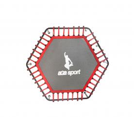 Aga Mata do skakania fitness trampolina 130cm Red