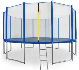Aga SPORT PRO Trampolína 460 cm Blue + ochranná síť  + žebřík + kapsa na obuv