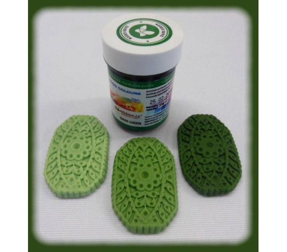 Gelová barva (Dark Green) tmavě zelená 35 g - Food Colours - Food Colours