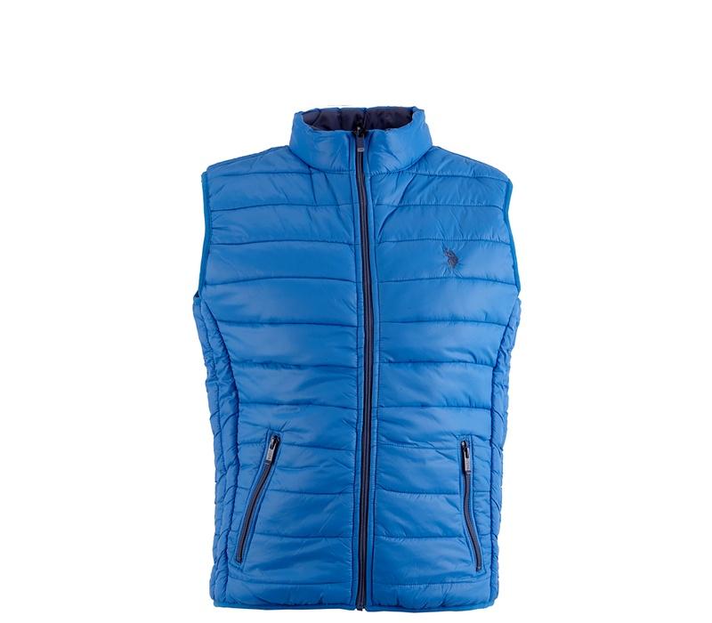 U.S. Polo ASSN. Pánská prošívaná vesta 577 Blue