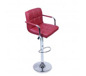 Tresko Barová stolička s opierkami BH013 Burgundy