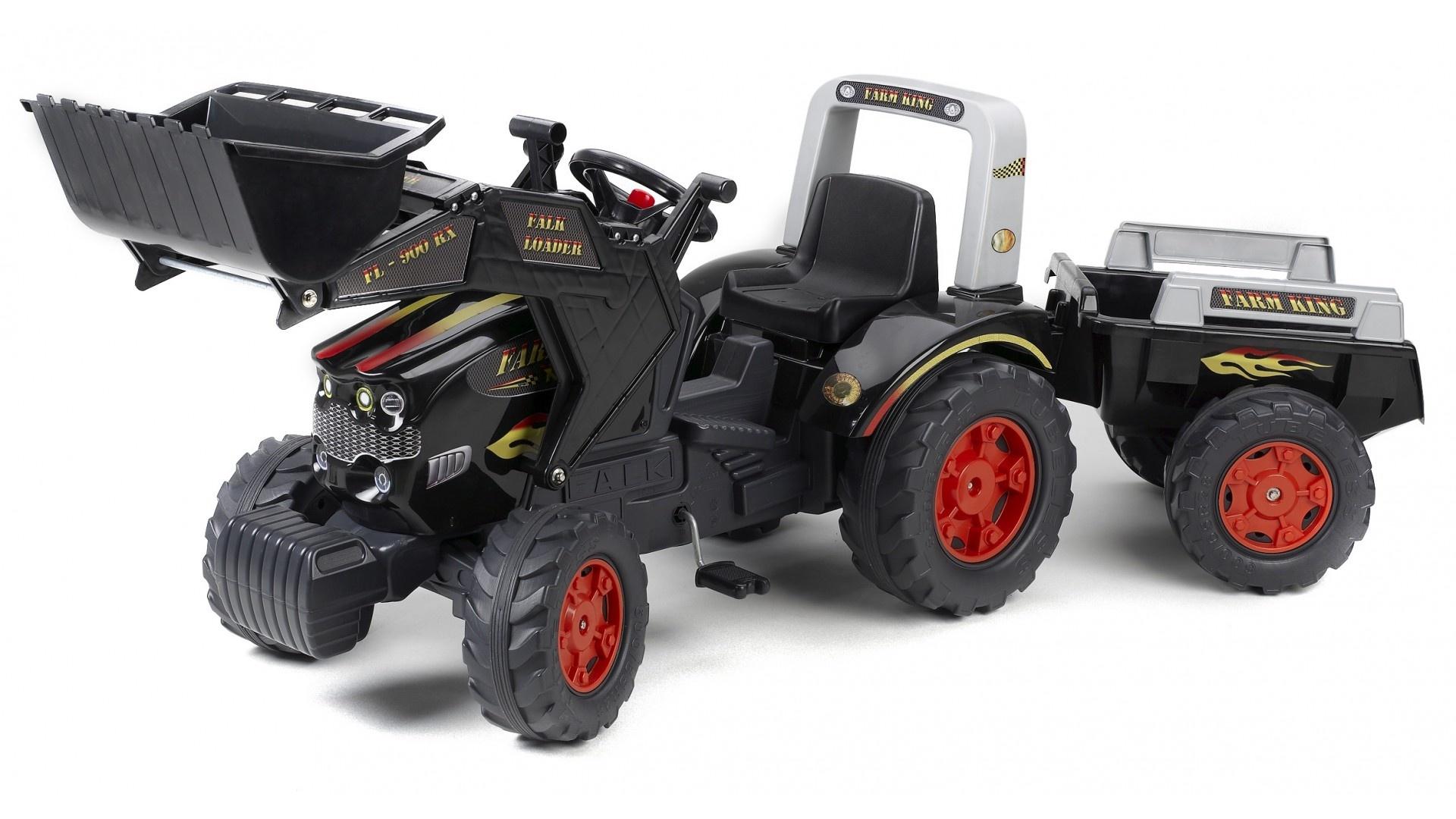 Falk Šlapací traktor FARM KING 950X 1075M s vlečkou