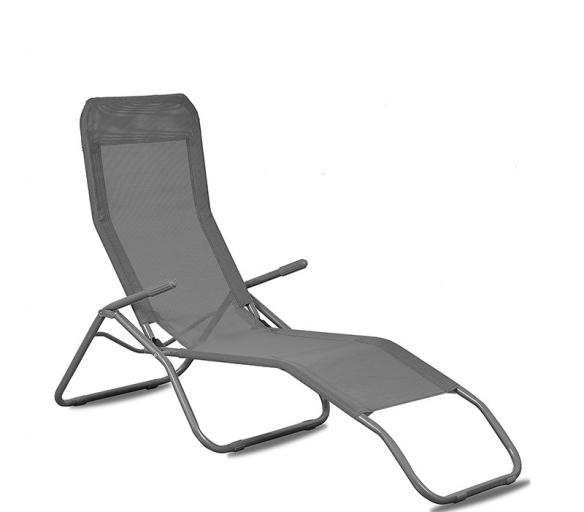 Aga Leżak ogrodowy plażowy SIESTA MC372171G Grey