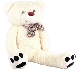 Aga4Kids Plyšový medvěd MR13001F 130 cm Bílý