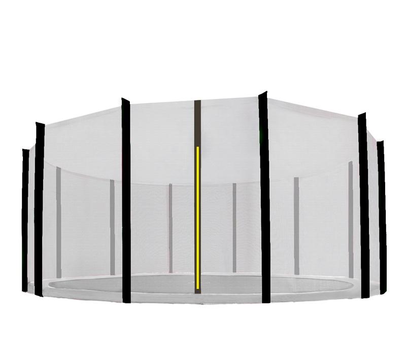 Aga Ochranná síť 460 cm na 12 tyčí Black net / Black