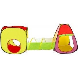 Aga4Kids Dětský hrací stan se spojovacím tunelem