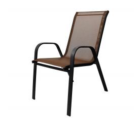 Aga Krzesło ogrodowe ALU STAPEL MR4400BW Brown